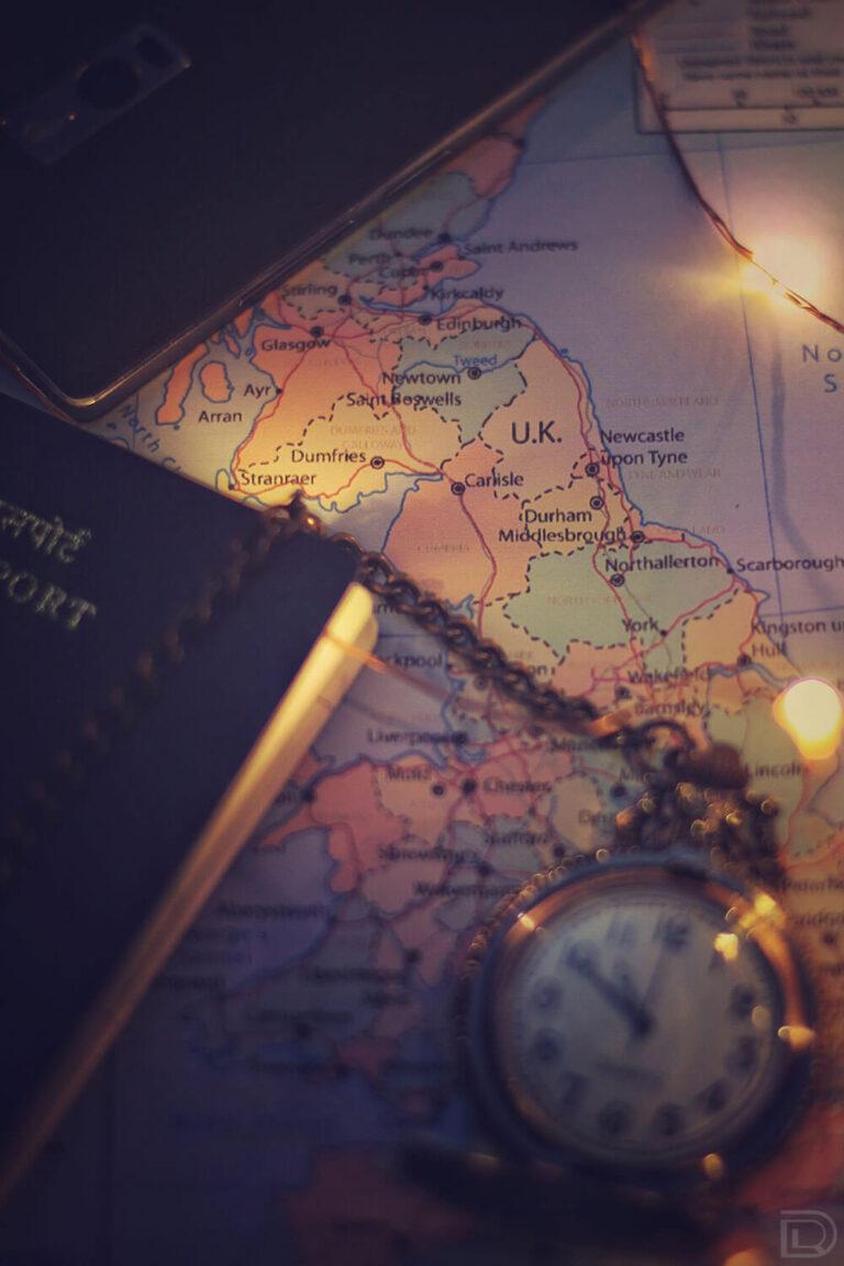 Map Travel Watch Passport UK England